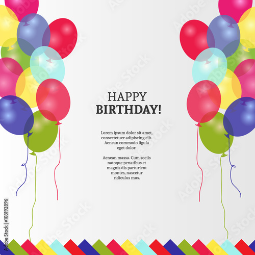 Happy birthday greeting card and background design stock image and happy birthday greeting card and background design m4hsunfo