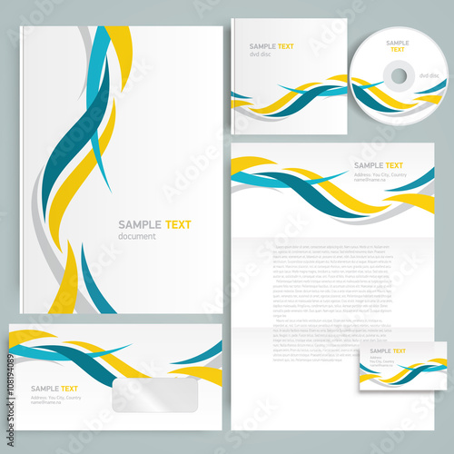 Corporate identity design template curves\