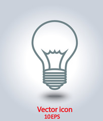 vector icon lamp