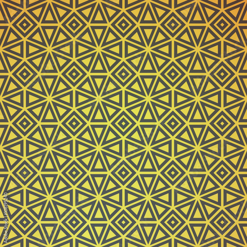Gold Geometric Retro Abstract Seamless Pattern Vintage Party