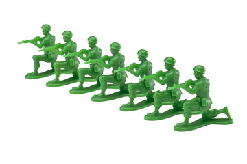 military toy soldier kneeling ready for battle