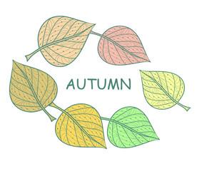 round frame of leaves background of green leaves vector illustration