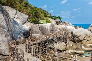 Bridge on the rocks