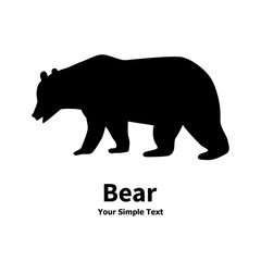 Isolated bear silhouette