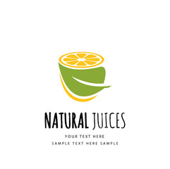 Natural juice icon design