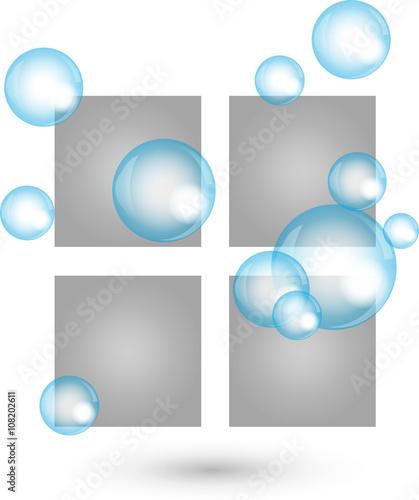Fenster Geputzt Logo Reinigung Reinigungsfirma Stockfotos Und