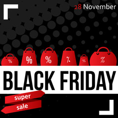 Black Friday sale poster vector