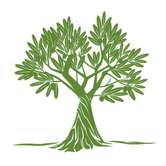Vector Color Olive Tree.