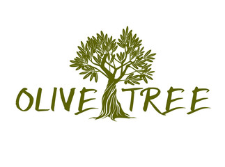 Green Vector Olive Tree and text.