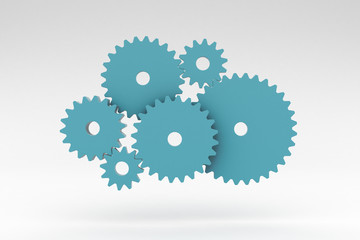 Gears, Cogs, Studio Background