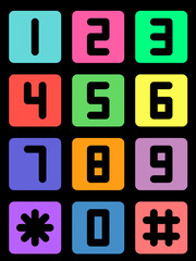 Colorful telephone number