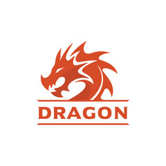 Dragon Head Logo Template, Dragon Brand identity, Dragon logo vector