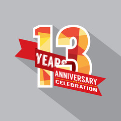 13th Years Anniversary Celebration Design.