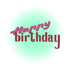 Happy Birthday New Vector Lettering