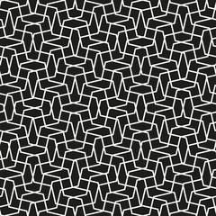 Simple geometric vector pattern - lines on a black background