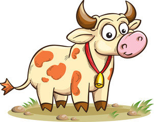 smiling cartoon cow