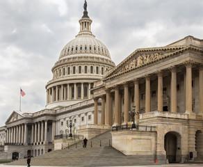 Capitol building eastern facade,staircase,Washington DC