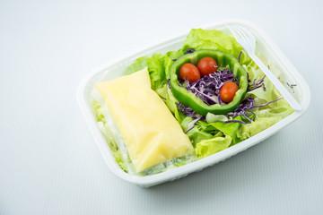 salad on boxfoam