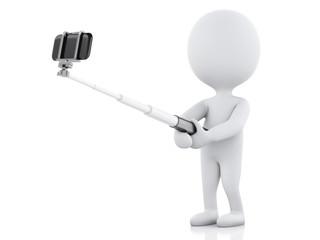 3d white people taking selfie