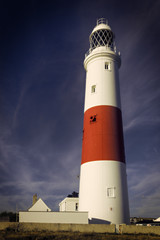 Lighthouse at Portland Bill in Dorset, UK.