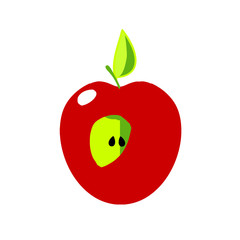 Apple icon - cut fruit.