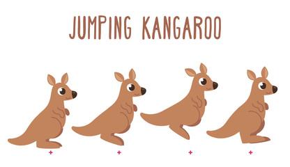 Cartoon kangaroo jumping