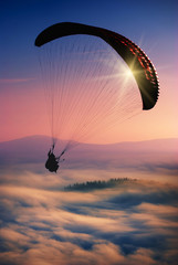 Paraglide in a sky