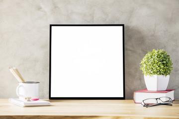 Desk with frame