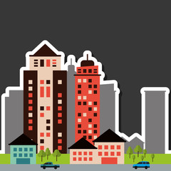 City and Building icon design , vector illustration