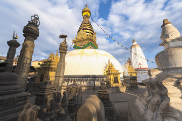 Swayambhunath Stupa in Kathmandu ,Nepal