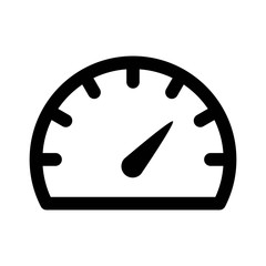 Speedometer gauge or car dashboard line art icon for apps and websites