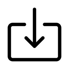 Import file or import document download line art icon for apps and websites