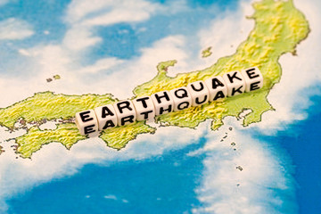 EARTHQUAKE on Japanese map