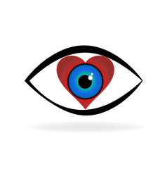 Eye love vector logo
