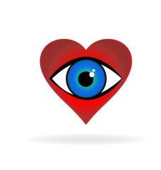 Love eye icon vector logo design template. Creative graphic design