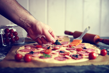 Pizza toppings macro prepare