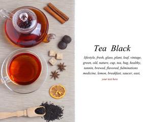 Tea Black isolated white background