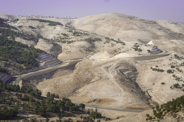 Sector E1, the territory in the Judean desert between Jerusalem and Ma'ale Adumim, disputed territory between Israel and the Palestinian Administration. Zone C, Palestinian Authority, October 2013.