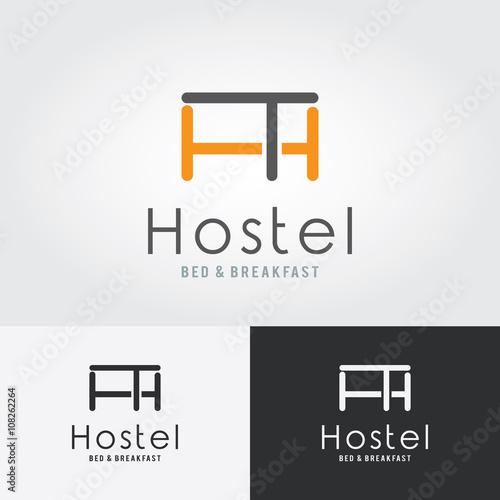 quothostel logo hotel logo vector logo template hostel