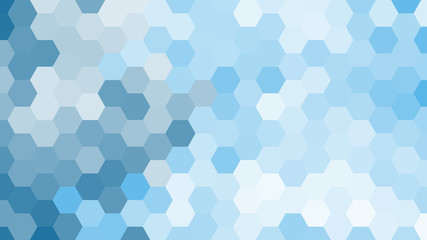 Pastel blue geometric hexagon pattern without contour.