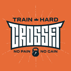 Crossfit - original lettering. Vector print for t-shirt or gym i