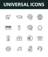 Set of universal icons. vector icons for general use