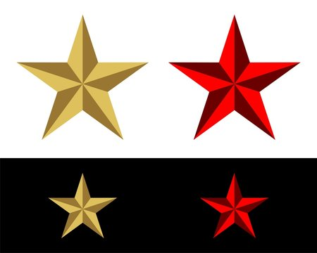 Gold and Red Star