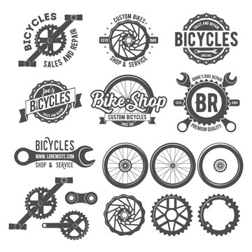 Set of bicycle badges