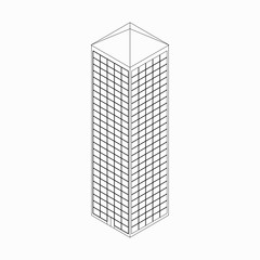 Skyscraper icon, isometric 3d style