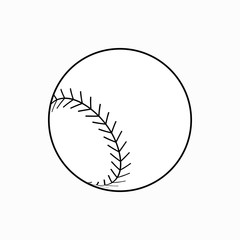 Baseball ball icon, isometric 3d style