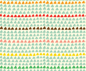 Seamless hand drawn triangle pattern