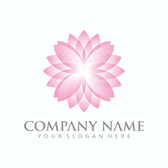 Beautiful abstract flower logo sign