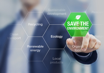 Save the environment icon, climate change conference