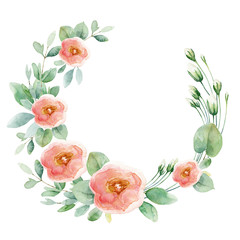 Flower wreath with roses